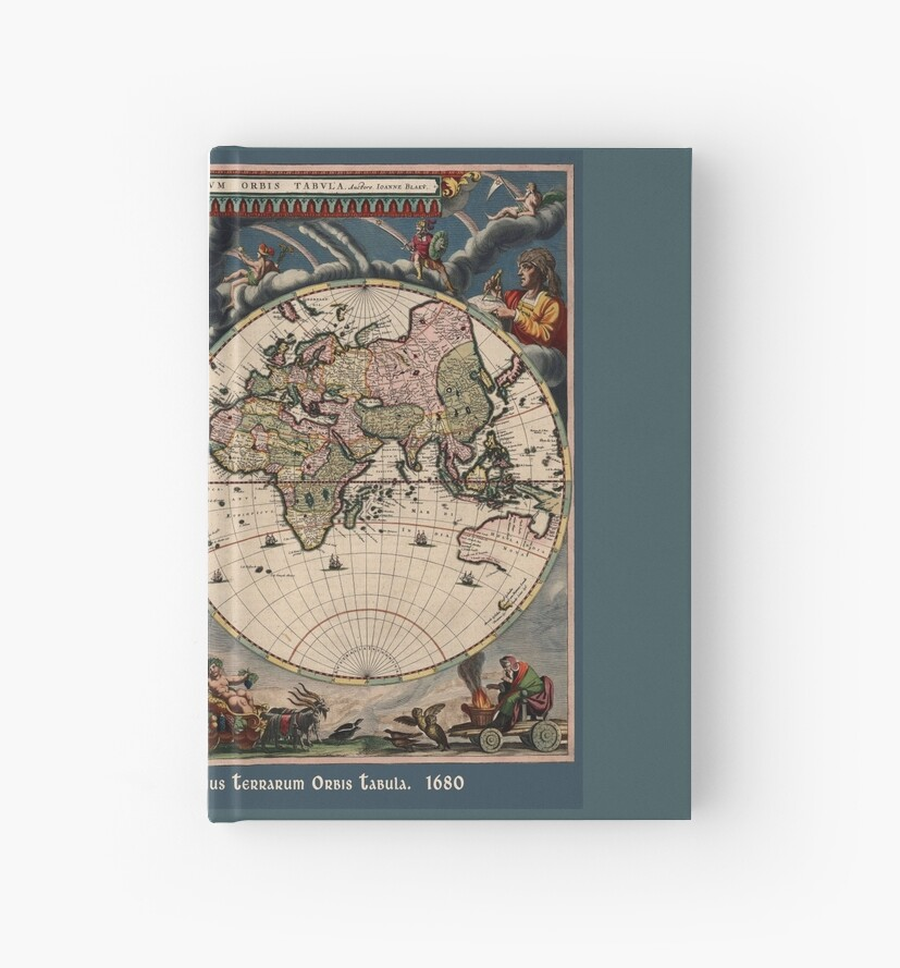 Blaeu World Map.Willem Janszoon Blaeu Map Of The World Hardcover Journals By