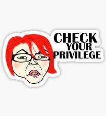 Check your privilege Sticker