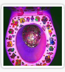 Lisa Frank toilet  Sticker