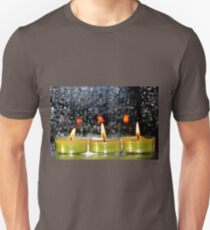 A row of candles Unisex T-Shirt