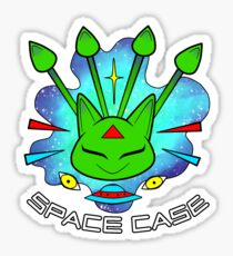 "Alien Aisha ""Space Case"" Sticker"