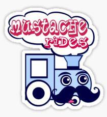 Mustache Rides Sticker