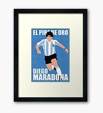 Maradona Gerahmtes Wandbild