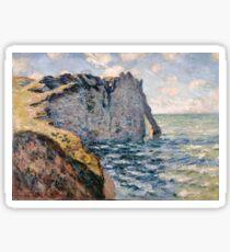 Claude Monet - The Cliff of Aval Etrétat, Impressionism Sticker