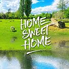 Home Sweet Home Pastoral Versailles Chateau Country Landscape by Beverly Claire Kaiya