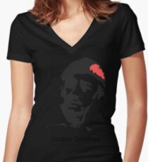 Jacques Cousteau  Women's Fitted V-Neck T-Shirt
