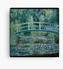 Claude Monet - Water Lilies and Japanese Bridge (1899)  Impressionism Canvas Print