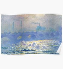 Claude Monet - Waterloo Bridge, Impressionism Poster