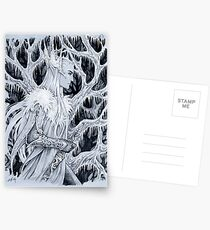 Winter in forest Postcards