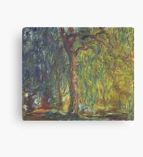 Claude Monet - Weeping Willow , Impressionism) Canvas Print