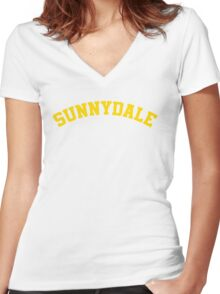 Sunnydale High School Tee Women's Fitted V-Neck T-Shirt