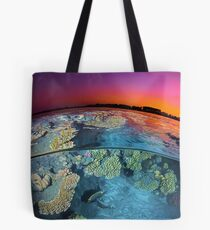 Dusk at the Red Sea Reef Tote Bag
