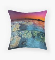 Dusk at the Red Sea Reef Throw Pillow