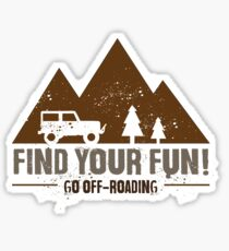 Find Your Fun Go Off-roading Sticker