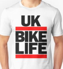 Run UK Bike Life DMC Style Moped Bikelife Motorcycle Gang Red & Black Logo T-Shirt