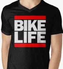 Run Bike Life DMC Style Moped Bikelife Motorcycle Gang Red & White Logo T-Shirt