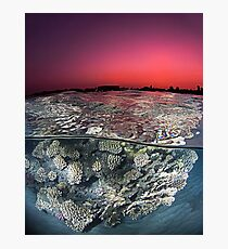Sunset Over the Red Sea Reef Photographic Print