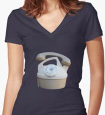 Kettle Phone by Zorro Gamarnik Women's Fitted V-Neck T-Shirt