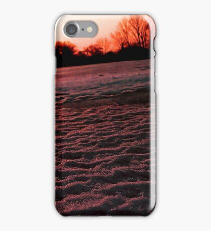 Black ice and snow iPhone Case/Skin
