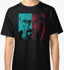 HEISENBERG VS DEXTER Walter White Breaking Bad and Dexter Face Mash Up Classic T-Shirt