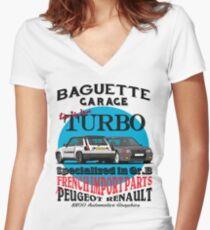 Baguette Garage Women's Fitted V-Neck T-Shirt