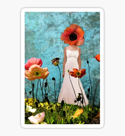 Lost in the poppy field Sticker