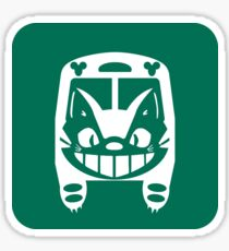 Cat Bus Sign Sticker