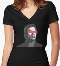 Dexter: MONSTER 3D  Women's Fitted V-Neck T-Shirt