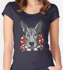 Wolf Dog Mushrooms  Women's Fitted Scoop T-Shirt