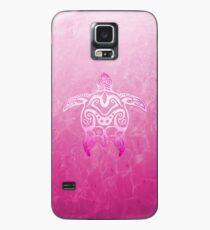 Rosa Tribal Turtle Hülle & Klebefolie für Samsung Galaxy