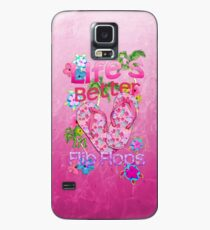 Life Is Better In Flip Flops Case/Skin for Samsung Galaxy