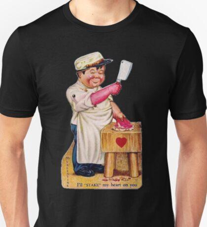 vintage valentine creepy butcher 2 T-Shirt