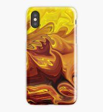 Yellow And Brown Flower Abstract  iPhone Case