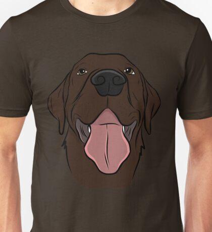Happy Chocolate Lab  Unisex T-Shirt