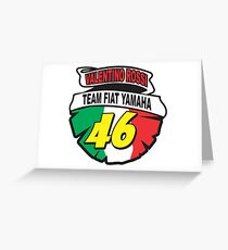 Valentino rossi Team Fiat Yamaha  Greeting Card