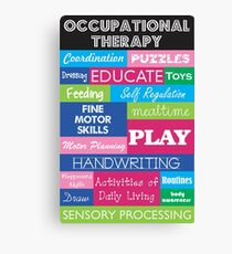 Pediatric Occupational Therapy Collage Canvas Print