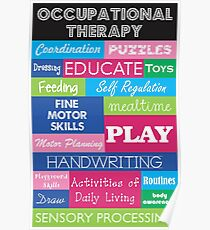 Pediatric Occupational Therapy Collage Poster