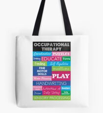 Pediatric Occupational Therapy Collage Tote Bag