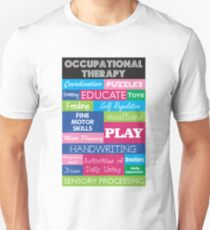 Pediatric Occupational Therapy Collage Unisex T-Shirt