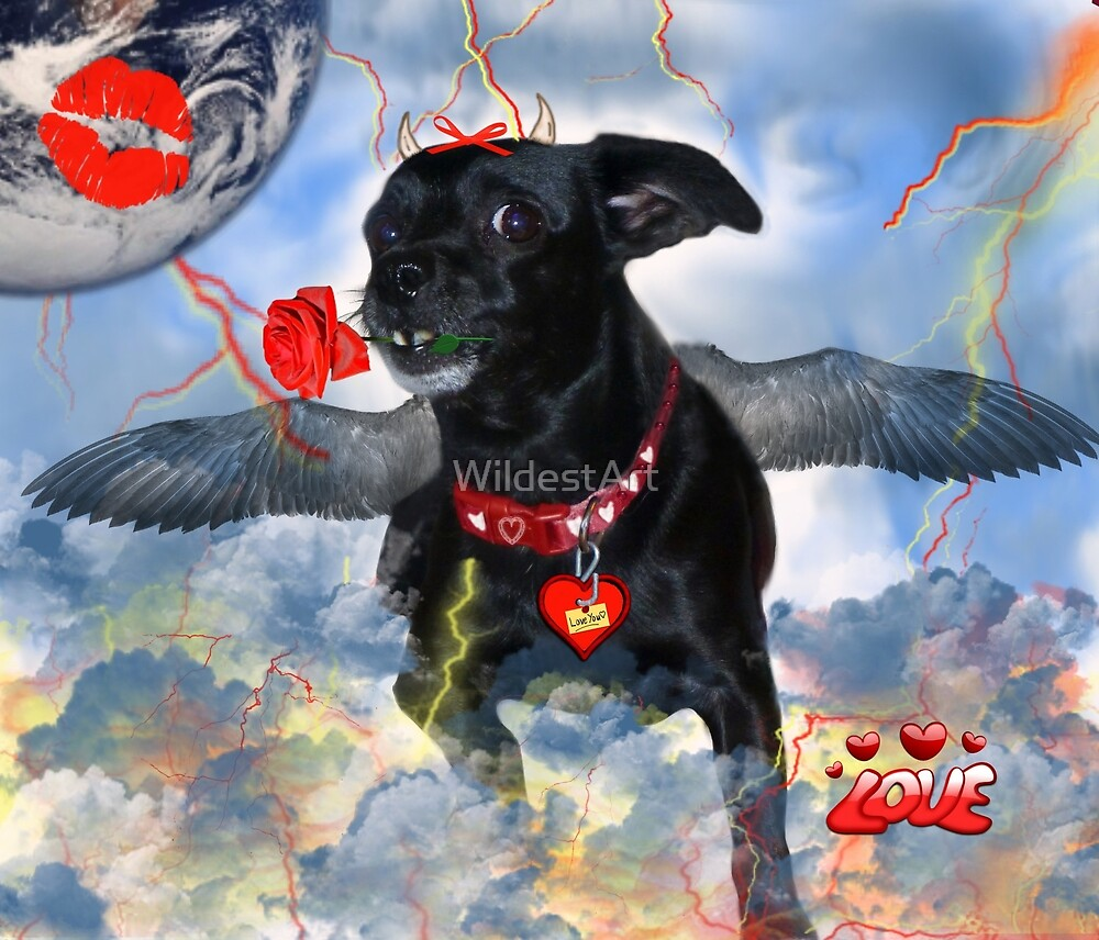 The Devil Cupid Dog That Came From Outer Space by WildestArt