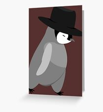 Modern Penguin Greeting Card
