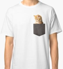 cute ginger cat in pocket  Classic T-Shirt