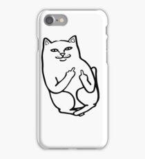 Middle Finger Cat iPhone Case/Skin