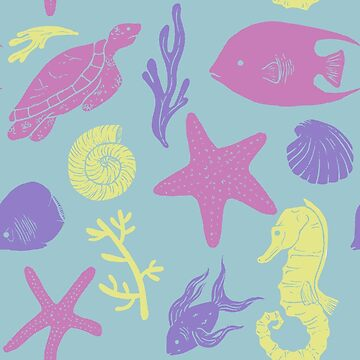 Colourful Sealife Pattern by shargreaves