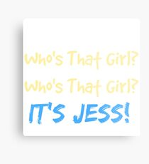 Who's That Girl? It's Jess! New Girl Metal Print