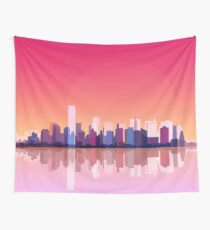 New york city landscape. Ny. Manhattan Wall Tapestry