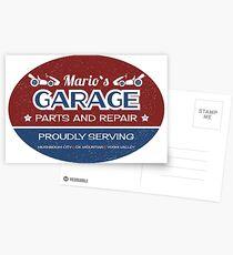 Mario's Garage Postcards