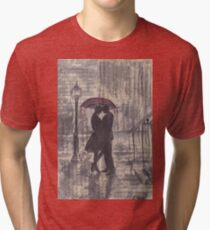 Silouette in rainy street Tri-blend T-Shirt
