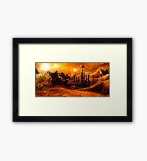 Doctor Who - Gallifrey & Doctor's Name Framed Print