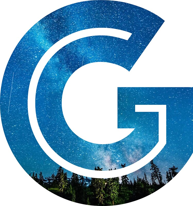 the letter g   starry night stickers by mike gallard
